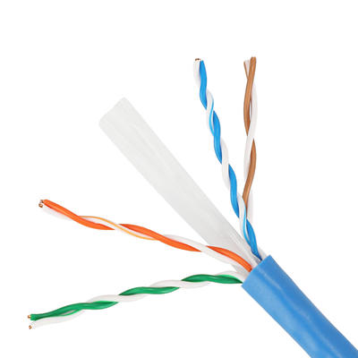 Taifeng UTP CAT6 networking cable 1/0.57*4 pairs solid conductor in Dongguan factory