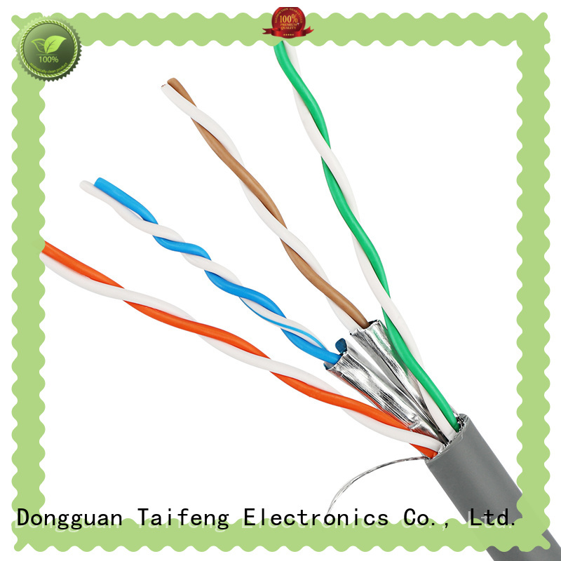 Taifeng Electronics solid cat 6a cable bulk production for switch cabinet