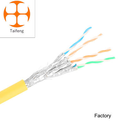 Taifeng  SFTP PIMF solid 1/0.65 bare copper cat8 cable